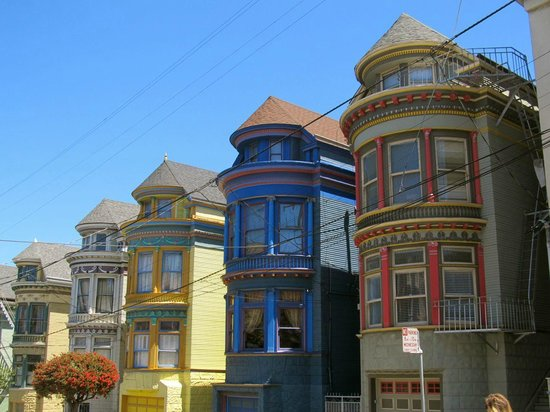 Haight Street: Colorful houses