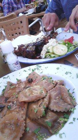 It-Torri Restaurant: rabbit ravioli + spareribs