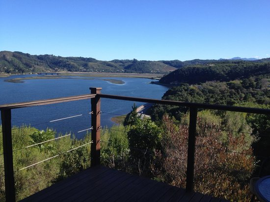 Elephant Hide of Knysna Guest Lodge: View from the sit-out deck