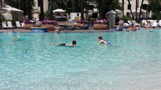 Hard Rock Hotel at Universal Orlando: Playing in the pool at the Hard Rock Hotel in Orlando