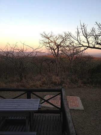 Mpila Camp: Sunset in the bush