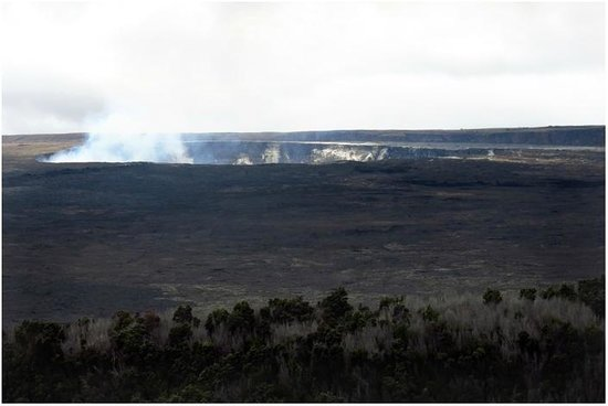 Kilauea Iki Trail: One of the steam vents visible from the Volcano House...at night, it glows!