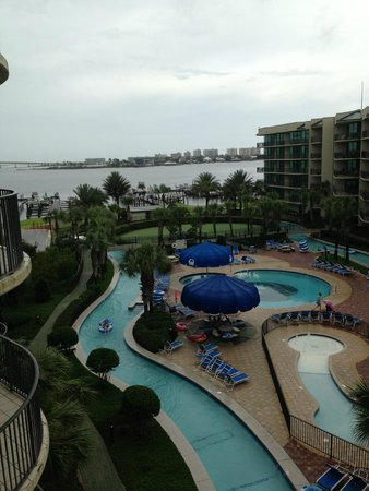 Phoenix on the Bay: View of pool and bay from room