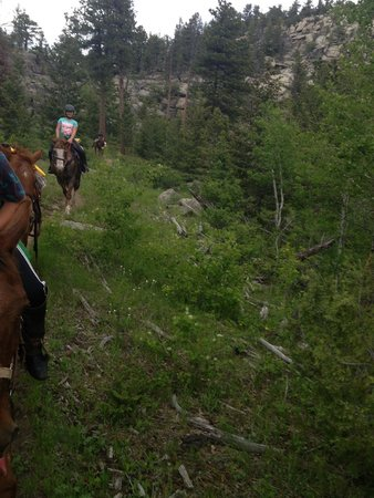 Sundance Trail Guest & Dude Ranch : horseback riding in the mountains