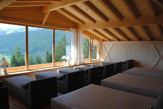 Hotel Alpen Tesitin: Sala relax panoramica