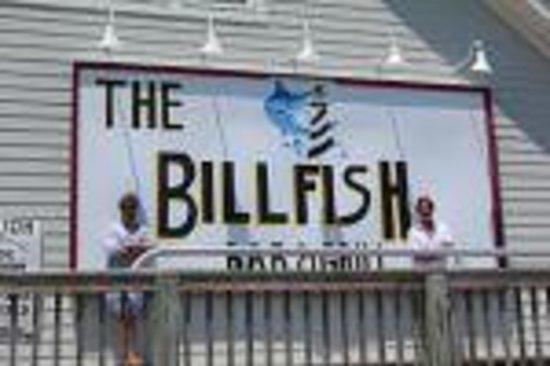 Billfish Bar & Grill: 2 Bill's in front of Billfish