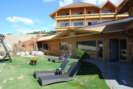 Hotel Alpen Tesitin: giardino aerea saune