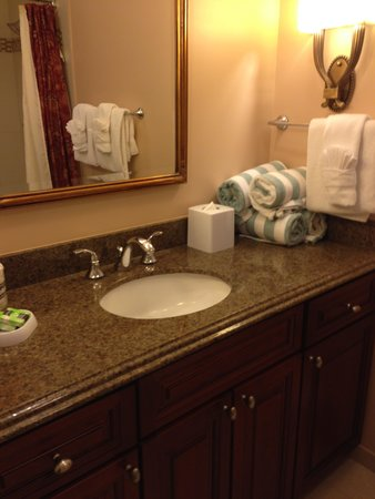 Marriott's Manor Club at Ford's Colony: 2 Big Bathrooms, with WD nearby
