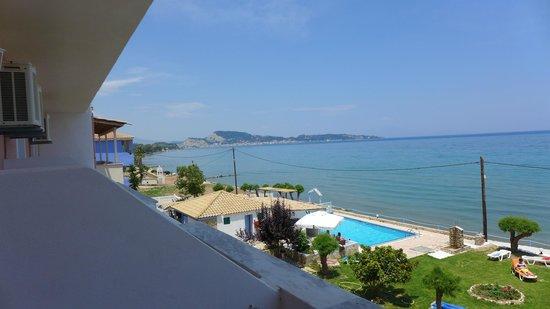 Agoulos inn : Widok na Zakynthos z okna
