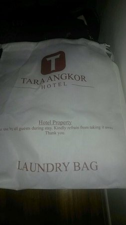 Tara Angkor Hotel : The dreaded 'reusable' laundry bag!!!