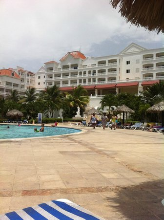 Grand Bahia Principe Jamaica: View of the hotel from the pool