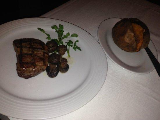 Milwaukee ChopHouse: Small Filet with Sweet Potato