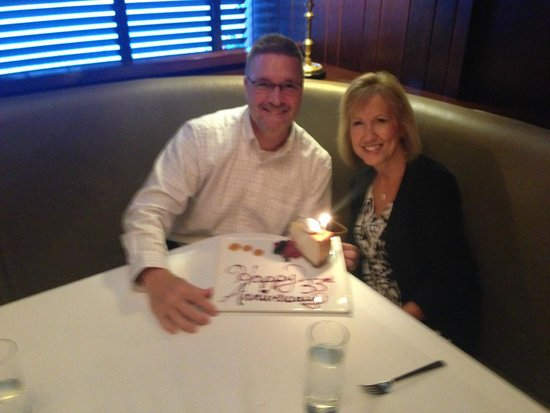 Milwaukee ChopHouse: Your's Truly Enjoying Our Special Occasion!