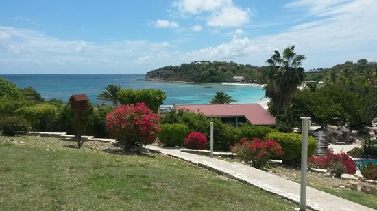 Pineapple Beach Club Antigua: View from ground floor Ocean view room