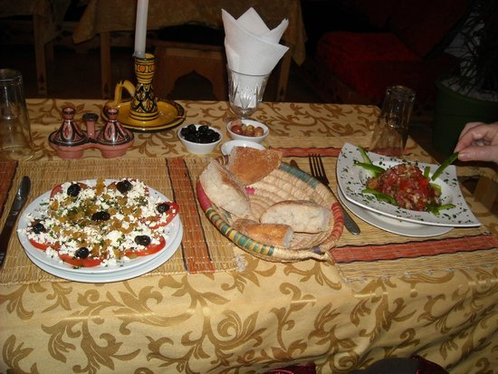 Bab Skala: More food than we could eat.