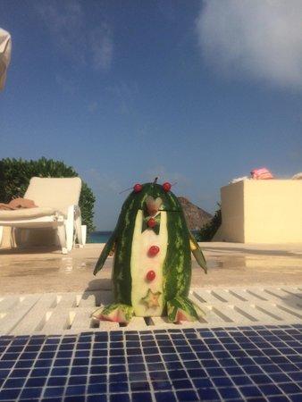 Live Aqua Beach Resort Cancun: Watermelon they make