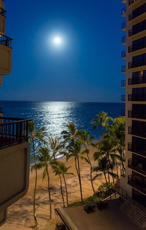 Moana Surfrider, A Westin Resort & Spa: Moonrise from my balcony in the tower