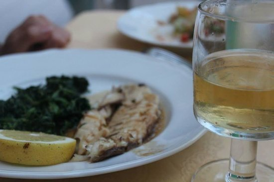Hotel Villa Bina: Goldbrasse und Gemüse