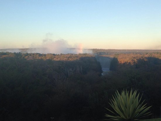 The Victoria Falls Hotel: View from the hotel outside Stanley Terrace