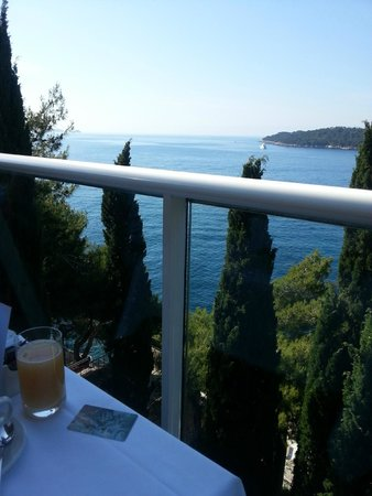 Grand Villa Argentina: View From Breakfast Terrace To Lokrum