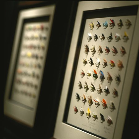 Clyde's Tower Oaks Lodge : Fishing Flies - Enjoy the artwork and other collections sitting on the walls!