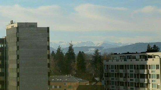 Swissotel Zurich: mountains in the distance