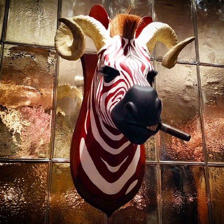 Rosewood London : The hotel's funky side, A wink to British big game hunts of the past with punk vibe.