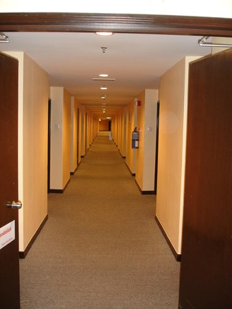 First World Hotel: Long hotel corridor, you hate this when you're already tired of walking in the theme park