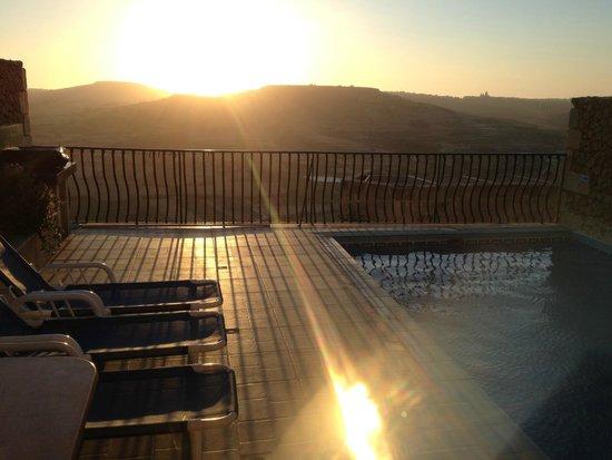 Bellavista Farmhouses Gozo: the private terrace