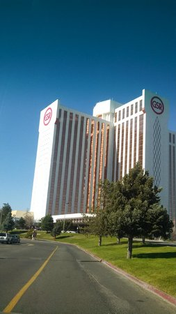 Driving up to the Grand Sierra Resort and Casino
