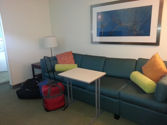 SpringHill Suites Kansas City Overland Park : couch/sleeper