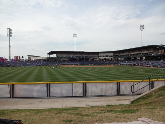 Trustmark Park: View from the outfield berm seating area