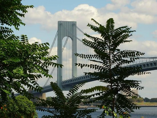 Another beautiful view of the Verrazano Bridge through the trees at Fort Wadsworth