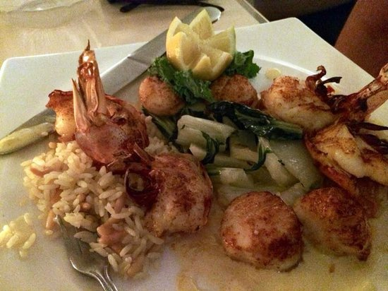 Cafe de Marco: Shrimps and scallops - perfect