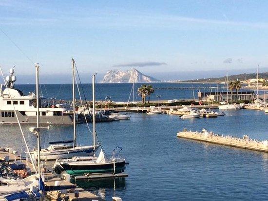 Club Maritimo de Sotogrande: View of Gibraltar from our terrace