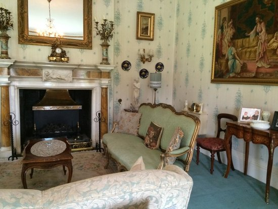 Ballyseede Castle: One of the lounge rooms downstairs.