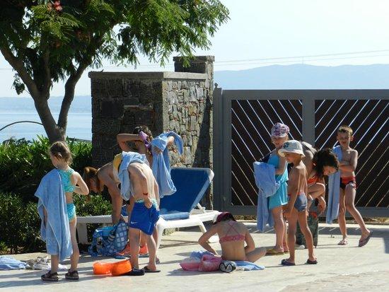 Rodos Princess Beach Hotel : in piscina con glia mici del miniclub