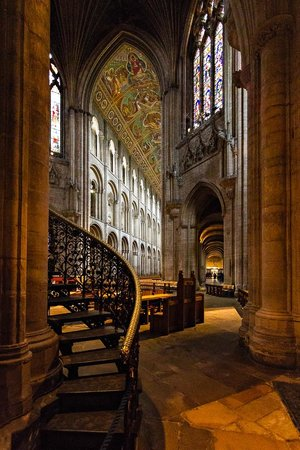 Stairway to the Octagon, Ely cathedral