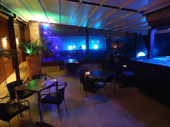 Hotel Granados 83: Roof top lounge with small pool. Very cool space.