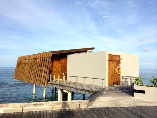 Park Hyatt Maldives Hadahaa: exterior of our water villa #51