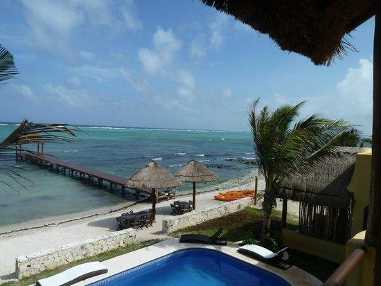 Blue Sky Hotel: view from 1st floor bedroom