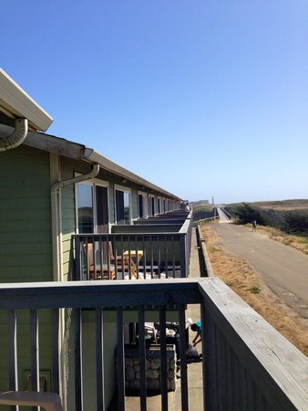 The Beachcomber Motel and Spa on the Beach : Upper floor view