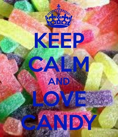 Keep calm and love candy foto di cioccolateria del for Immagini keep calm