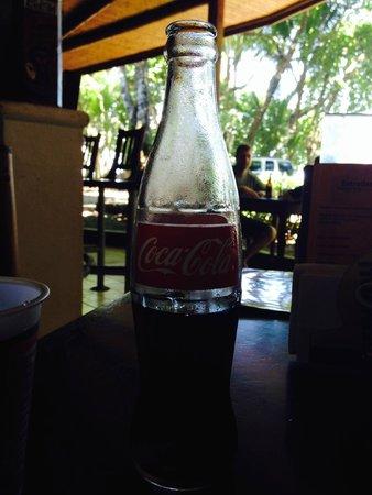 Tortilla Flats: Coke in a glass bottle
