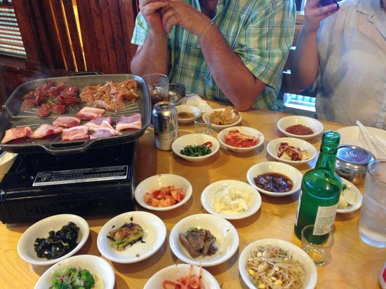 meat and chicken on the grill picture of seoul garden korean restaurant saint ann tripadvisor