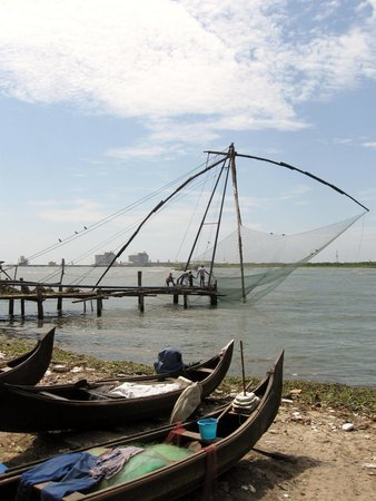 Jew Town : chinese fishing nets in Kochi Fort