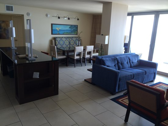 Marriott's Crystal Shores: Entrance of unit (corner unit)