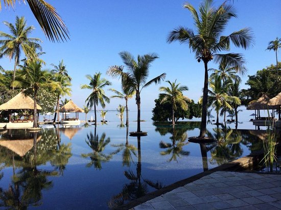 The Oberoi, Lombok: view from the pool