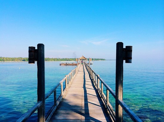 The Oberoi, Lombok: Hotel's private jetty