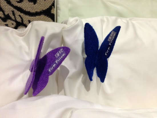 Butterfly On Morrison: Butterfly pin on pillow